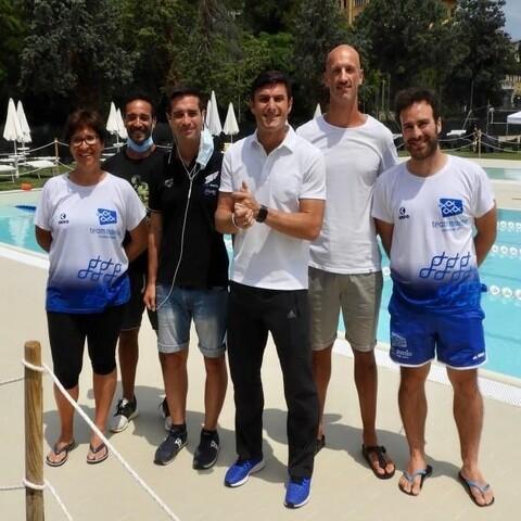 Javier Zanetti alla piscina comunale di Jesi accolto dal nostro staff